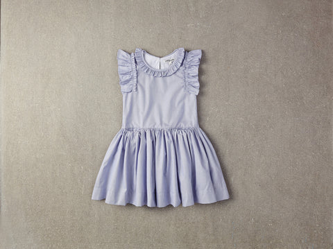 Nellystella Ariel Dress - Blue Pin Stripe