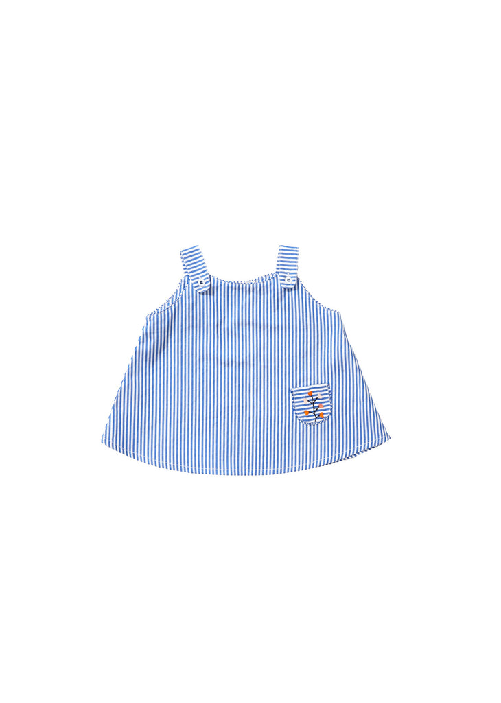 CARAMEL Bamboo Baby Top - Blue Stripe