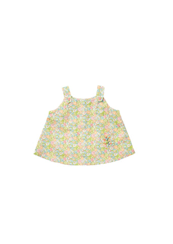 CARAMEL Bamboo Baby Top - Bright Pink Liberty
