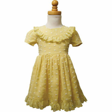 PAUSH Baby Doll Dress - Yellow Swiss Dot