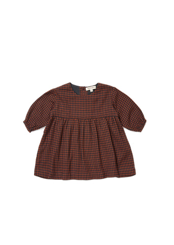 CARAMEL Belvoir Baby Dress - Orange Check