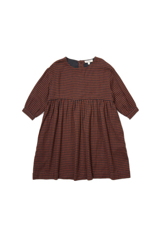 CARAMEL Belvoir Dress - Orange Check