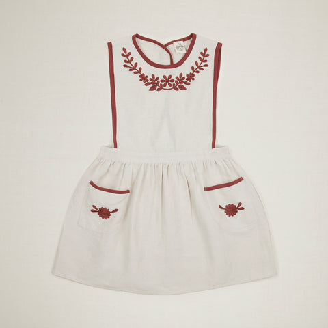Apolina Kids Bobbie Pinafore - Alabaster