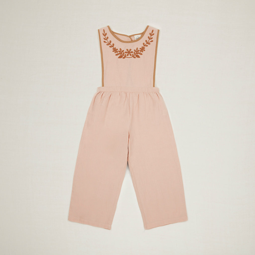Apolina Kids Bobbie Linen Dungaree - Carnation