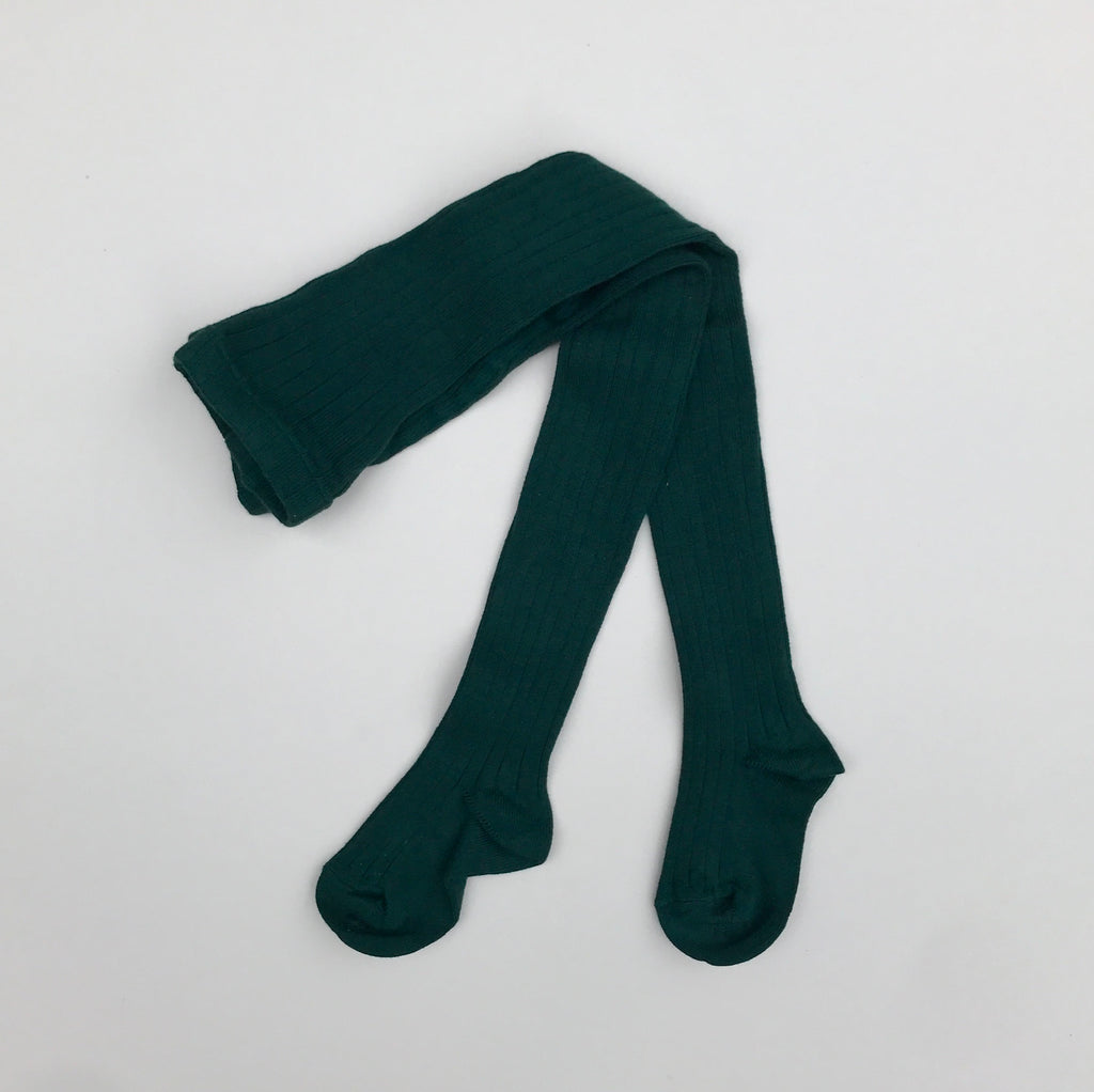 Condor Ribbed Tights - Bottle Green