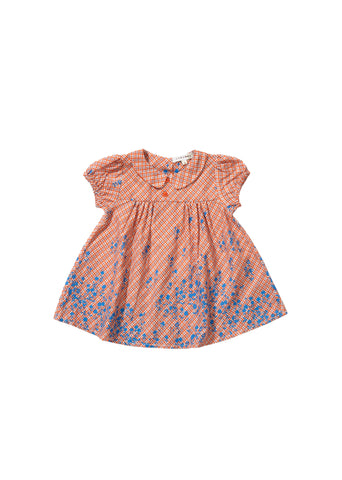 CARAMEL Chicory Baby Dress - Mandarine Check
