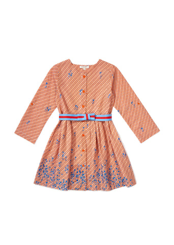 CARAMEL Chicory Dress - Mandarine Check