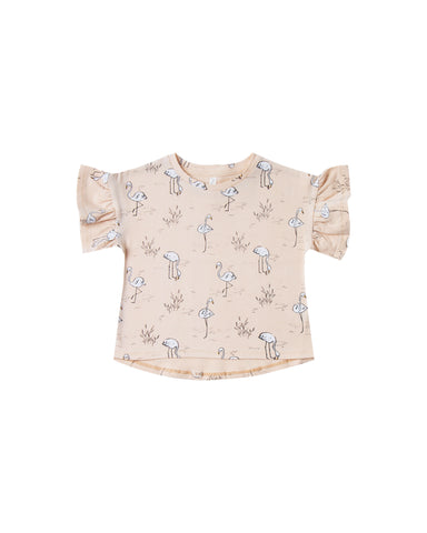 Rylee and Cru Flutter Tee - Flamingo