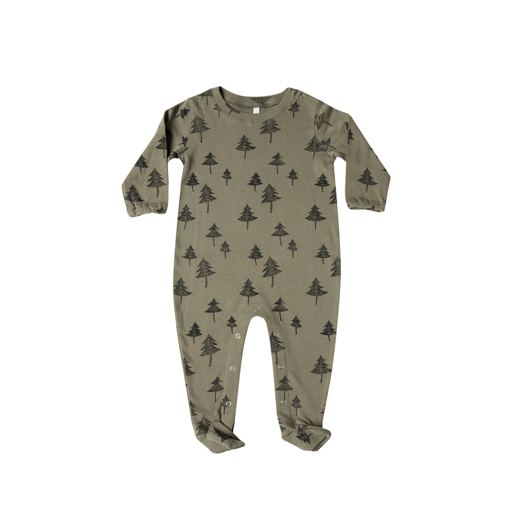 Rylee and Cru Footed Onesie - Tree