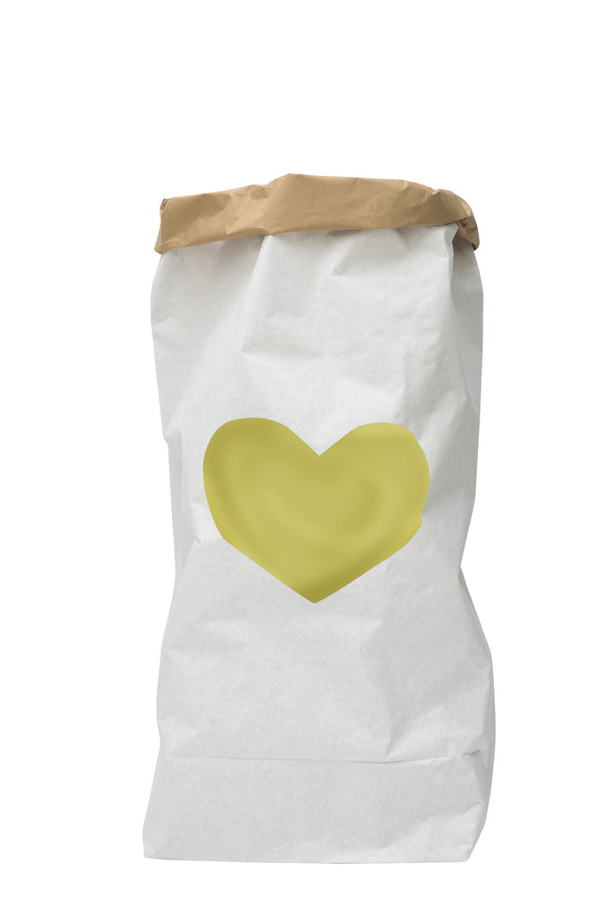 Tellkiddo Paper Bag Storage - Heart Gold