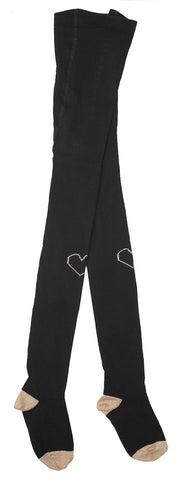 Emile et Ida Heart Tights - Black