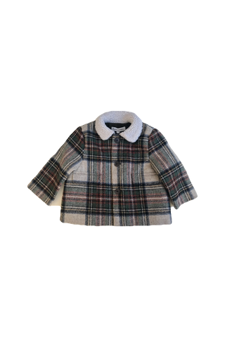 CARAMEL Newcastle Baby Coat - Beige Check