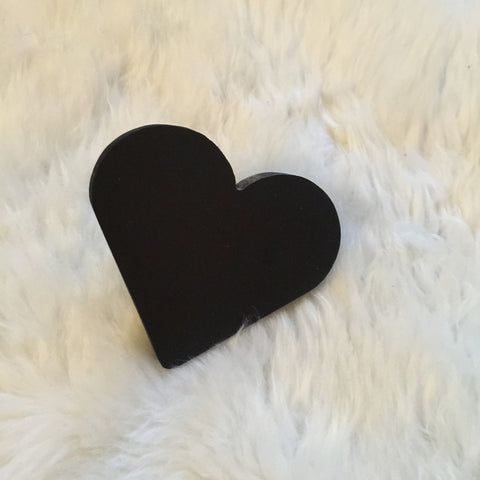 Pixistuff Heart Wall Hook - Black