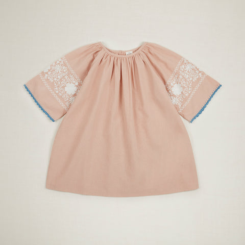 Apolina Kids Jeanne Tunic Dress - Carnation