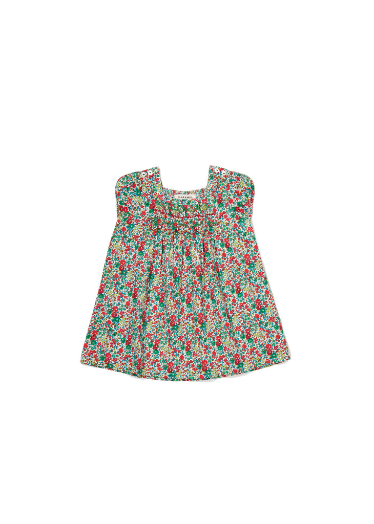 CARAMEL Luffa Baby Dress - Green Liberty