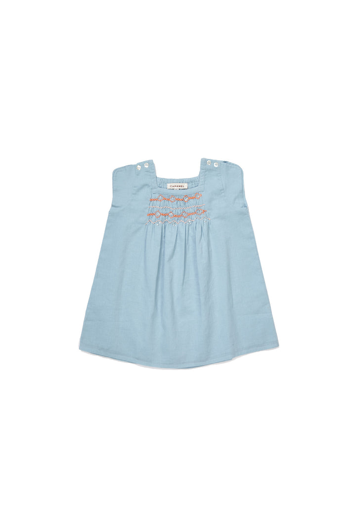 CARAMEL Luffa Baby Dress - Powder Blue