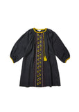 CARAMEL Lydford Embroidered Dress - Dark Slate