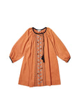 CARAMEL Lydford Embroidered Dress - Persimmon