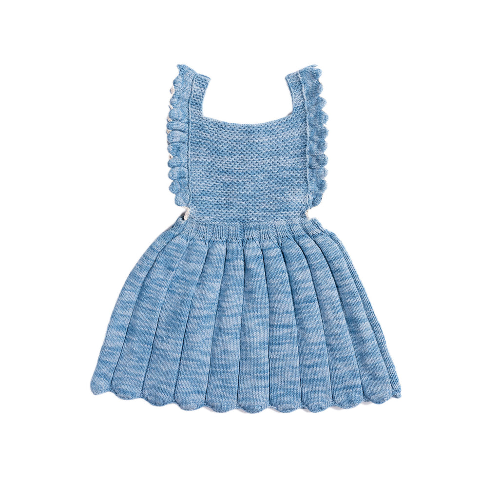 Misha & Puff Louisa Pinafore - Sky/ Natural