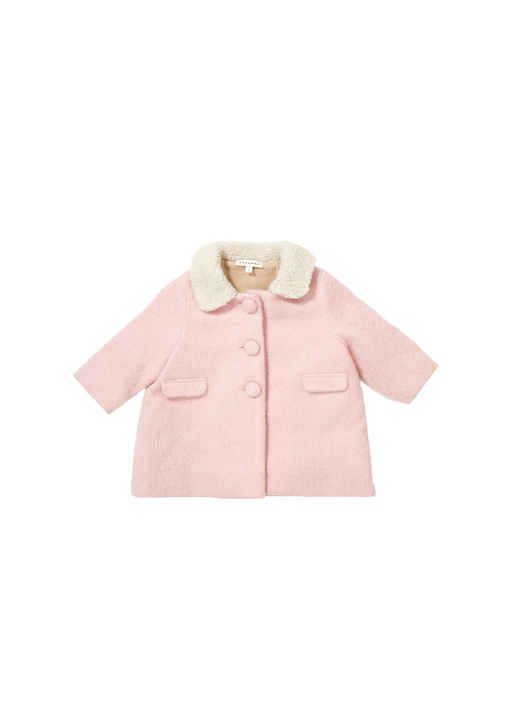 CARAMEL Middleton Baby Coat - Rose Bloom