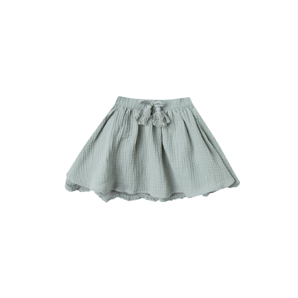 Rylee and Cru Mini Skirt - Seafoam
