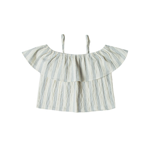 Rylee and Cru Off The Shoulder Top - Stripe