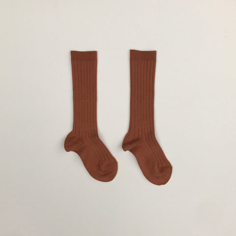 Condor Ribbed Knee-High Socks - Oxide