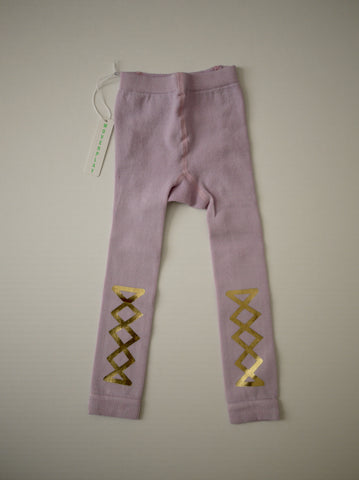 Wovenplay Ribbon Leggings - Orchid/ Pearlized Gold