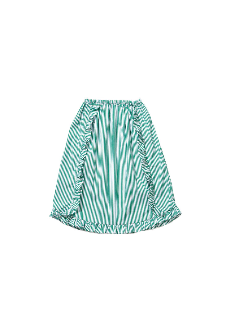 CARAMEL Paracress Skirt - Green Stripe