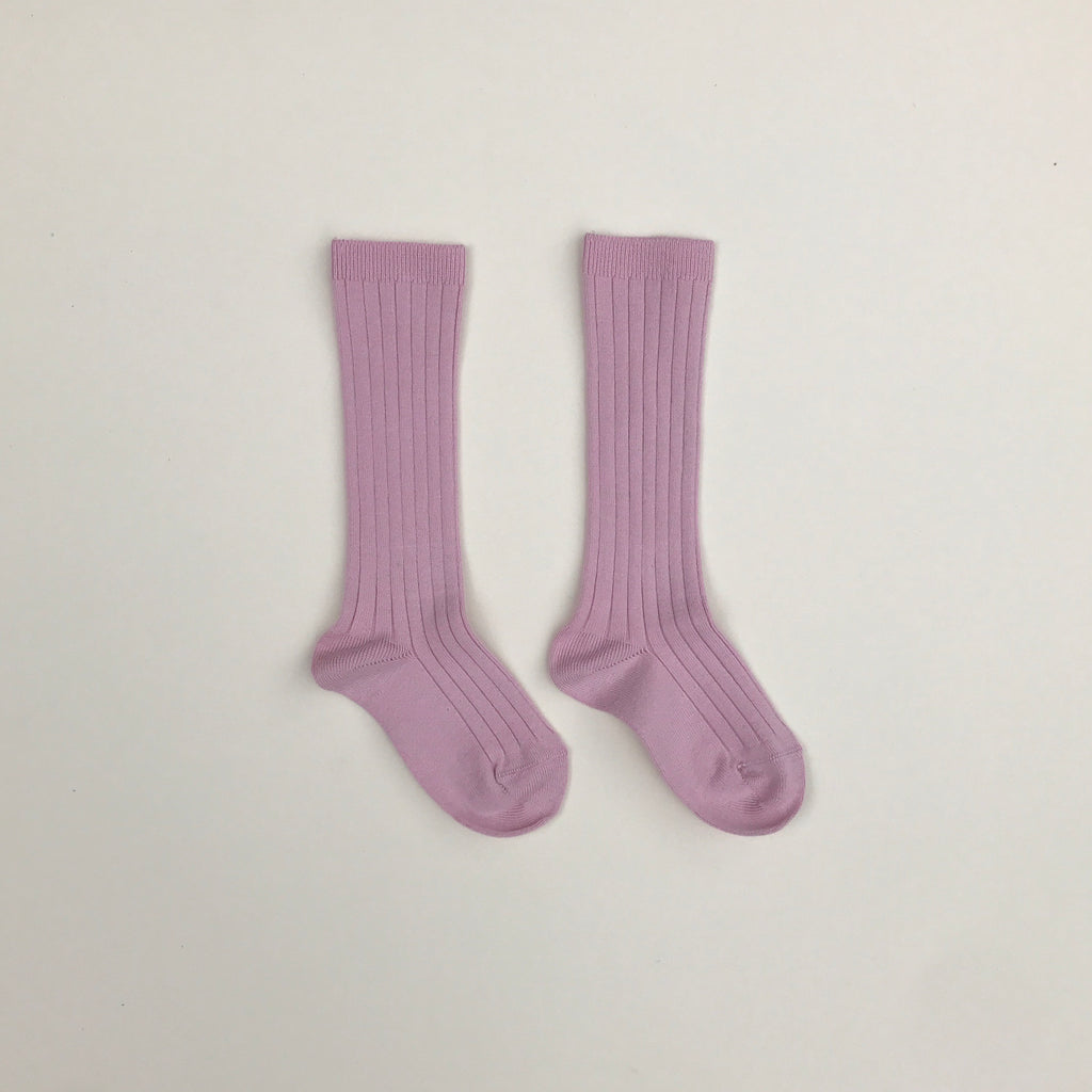 Condor Ribbed Knee-High Socks - Pale Pink
