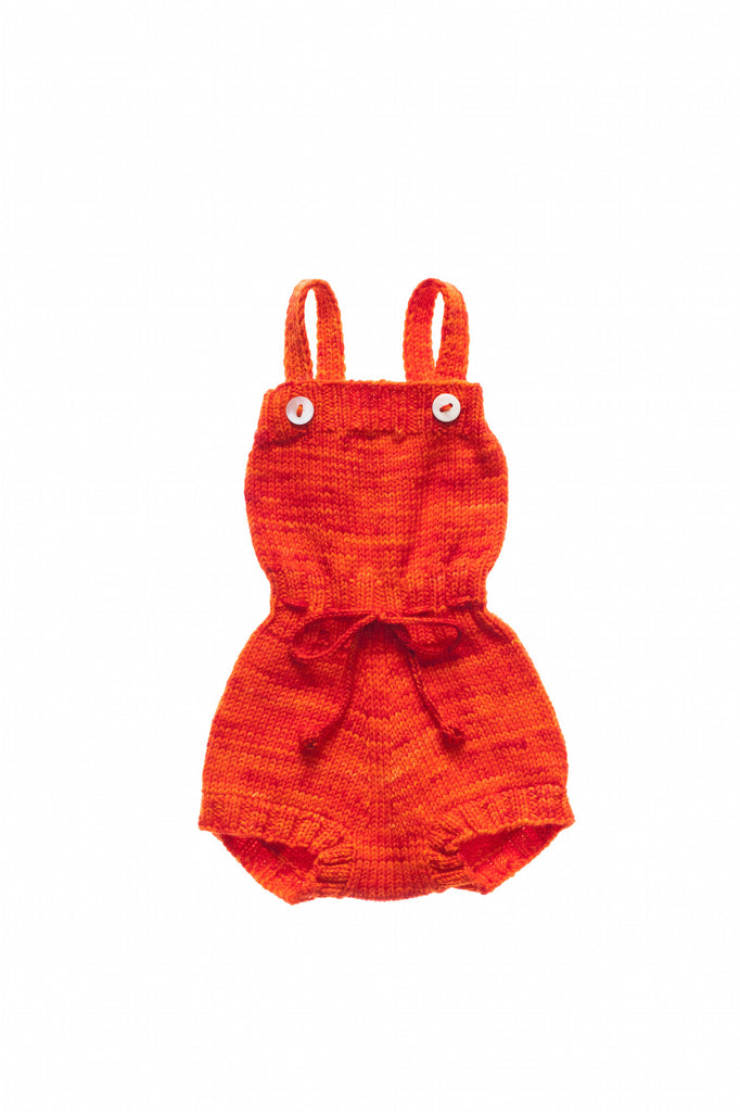 Misha & Puff Pinetree Playsuit - Persimmon