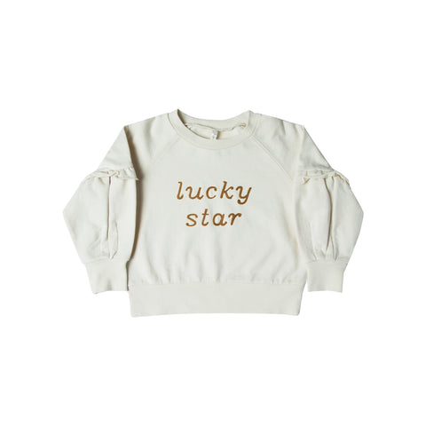 Rylee and Cru Puff Sleeve Sweatshirt - Lucky Star