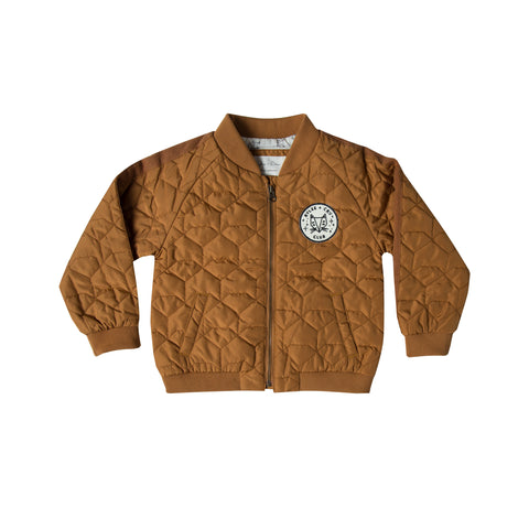 Rylee and Cru Quilted Bomber Jacket