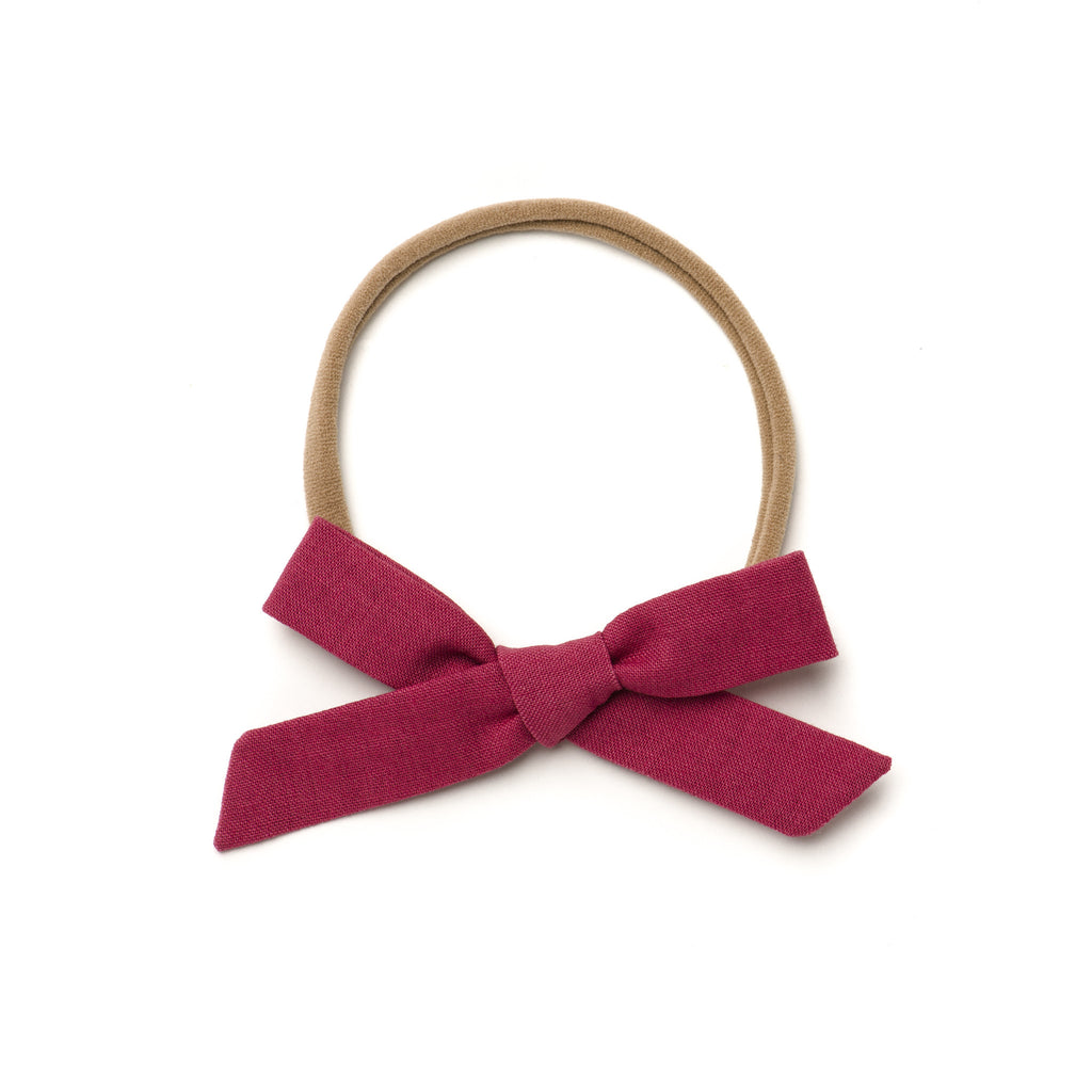 "Free Babes Schoolgirl Bows - ""Wine"" Hand-Tied Bow"