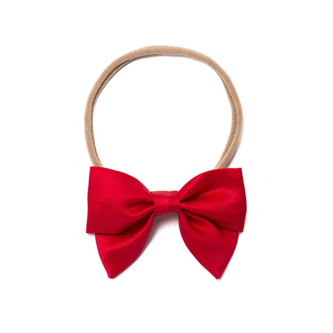 "Free Babes Mini Sailor Bows - Satin ""Holly Berry"" Bow"