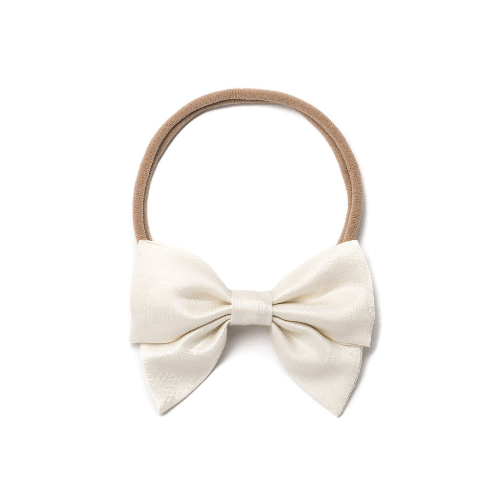 "Free Babes Mini Sailor Bows - Satin ""Ivory"" Bow"