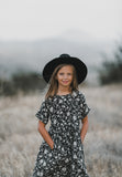 Rylee and Cru Kat T-shirt Dress - Midnight Floral
