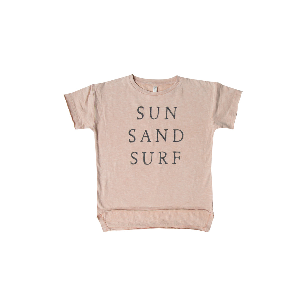Rylee and Cru Raw Edge T-shirt - Sun Surf Sand