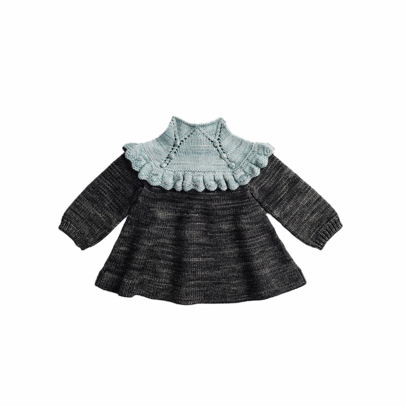 Misha & Puff Ruffle Tunic Dress - Sage/ Graphite