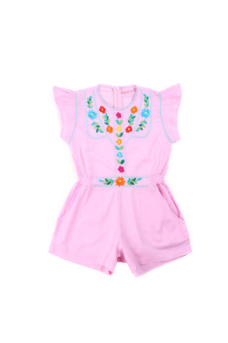 Coco and Ginger Isabel Playsuit - Rose with Hand Stitch