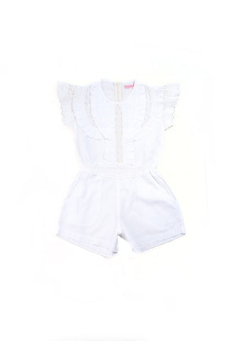 Coco and Ginger Isabel Playsuit - White Broiderie