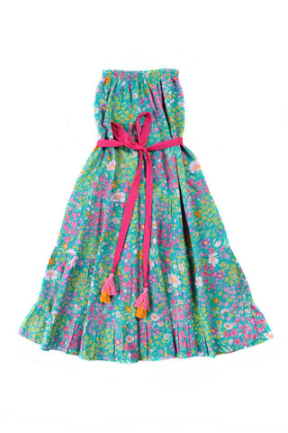 Coco and Ginger Rose Dress - Paris Gypsy Aqua