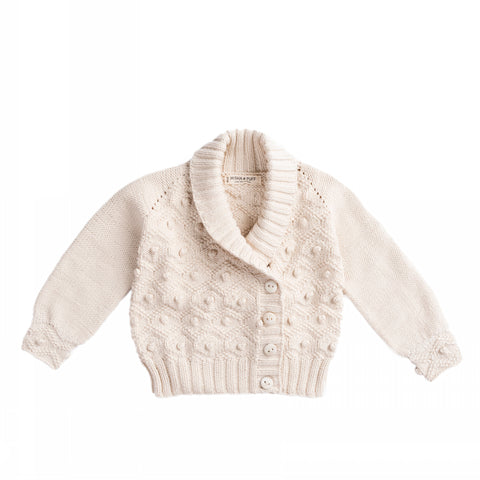 Misha & Puff Saltwater Bobble Cardigan - Natural