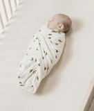 Rylee and Cru Organic Cotton Swaddle - Sparrow