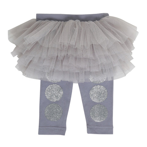 Rock Your Baby Silver Dot Baby Circus Tights