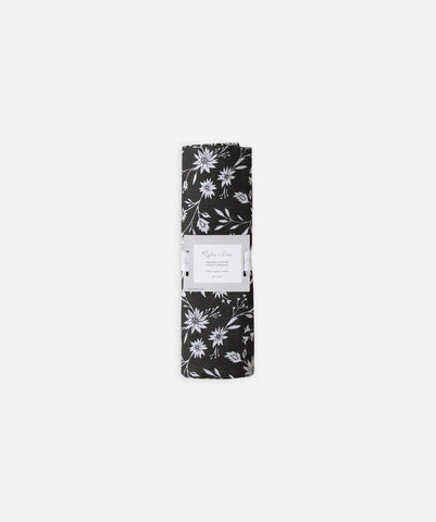 Rylee and Cru Organic Cotton Swaddle - Midnight Floral