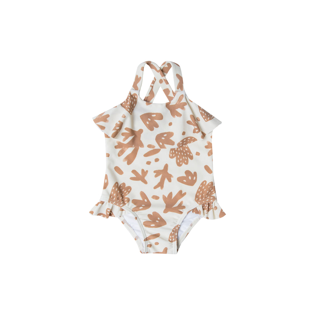 Rylee and Cru Ruffle Onepiece Swimsuit - Sealife