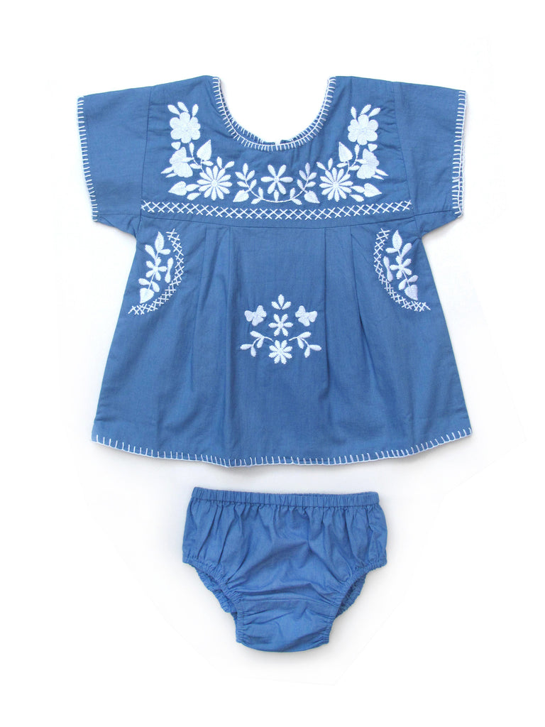 Apolina Kids Tina Baby Tunic & Bloomer Set - Bluebell
