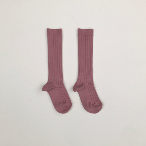 Condor Ribbed Knee-High Socks - Terracota
