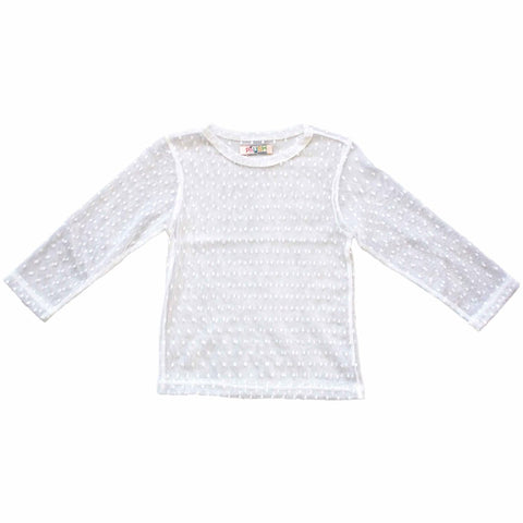 PAUSH Mesh Long Sleeve Top - White